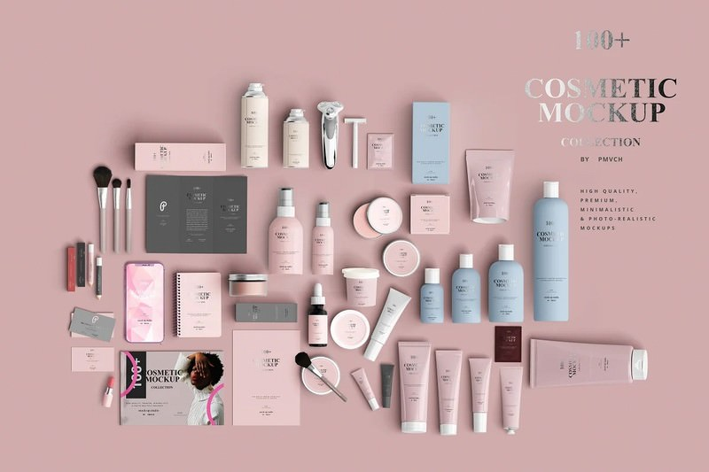 100+ Cosmetic Mock-up Collection