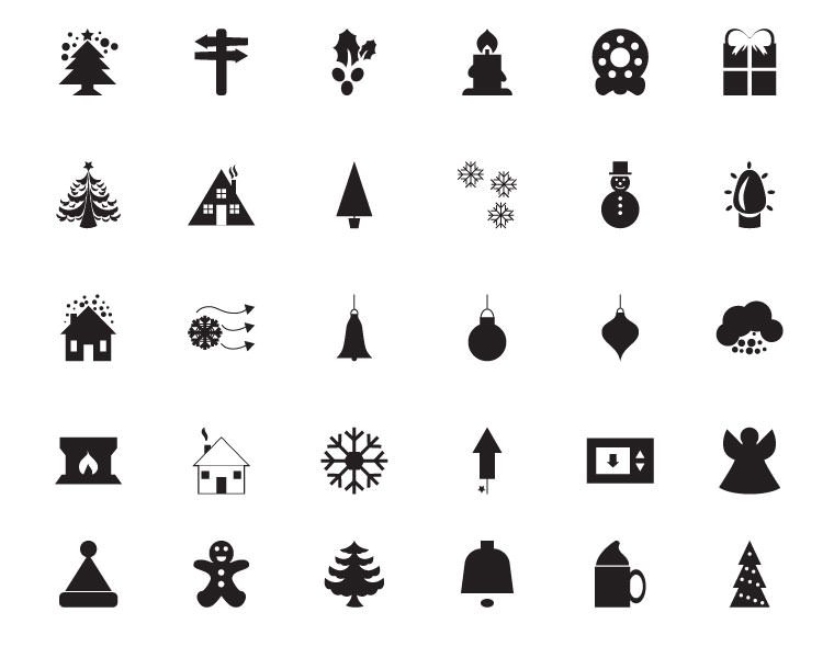 30 Winter Vector Icons