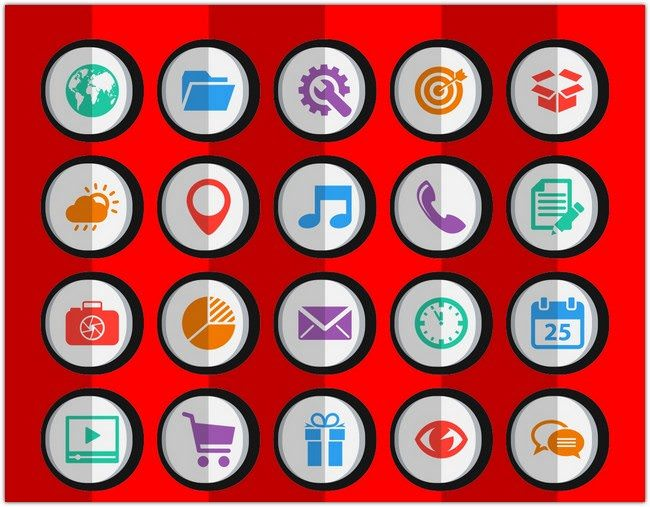 50 Dynamic Flat Android Icons