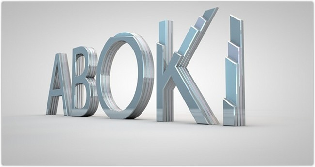 ABOKI 3D TYPOGRAPHY