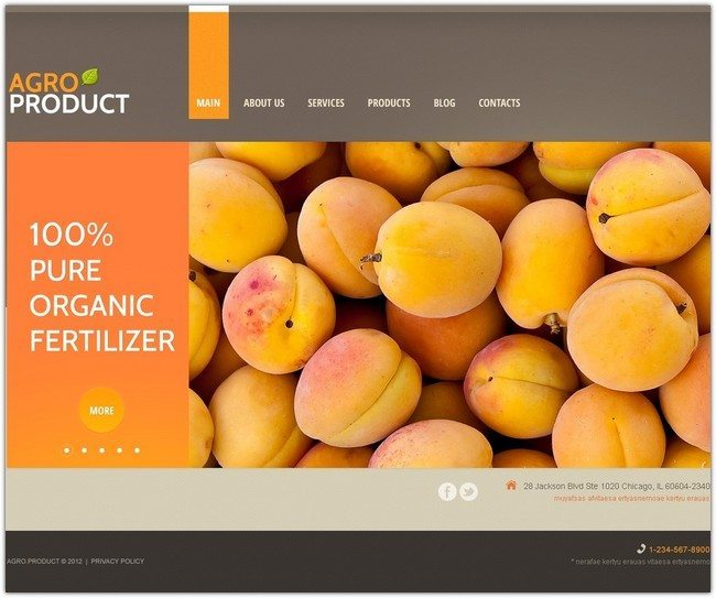 AGRO PRODUCT Agriculture WordPress Theme