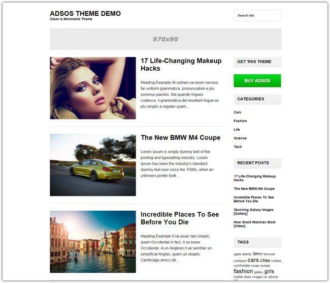Adsos WordPress Theme
