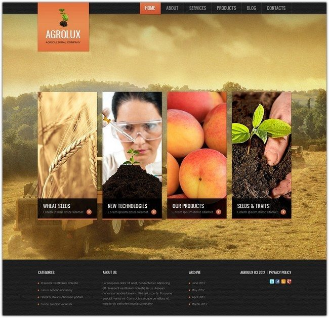 Agrolux Agriculture WordPress Theme