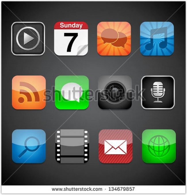 App Icons – Vector app icons