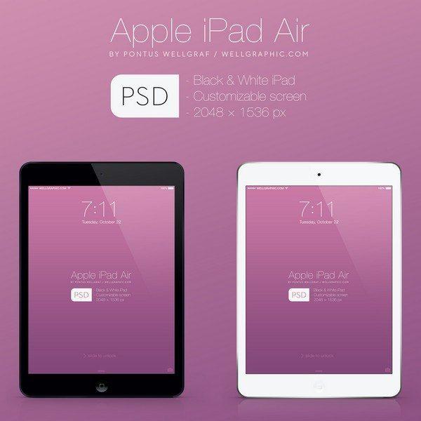 Apple iPad Air Mockup PSD