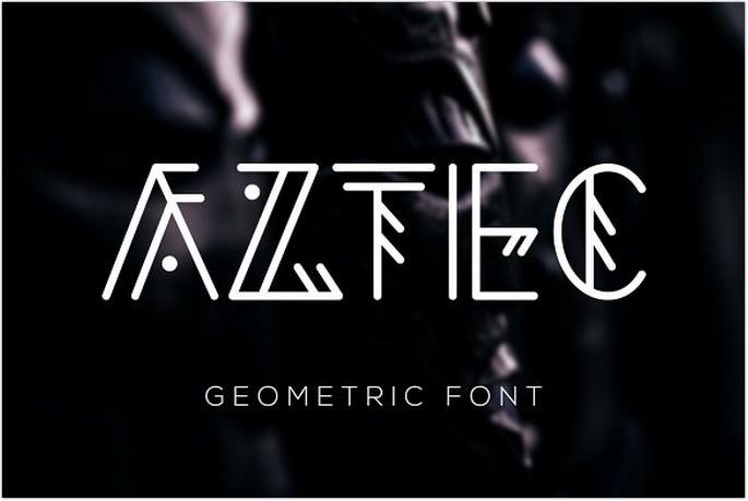 Aztec Geometric Font