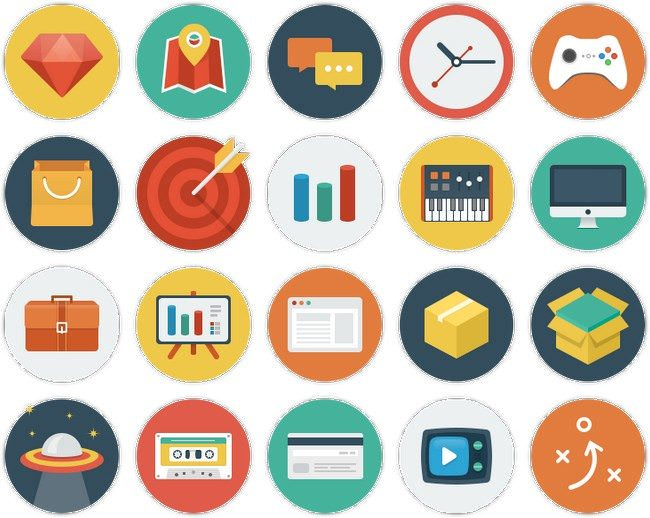 Ballicons Colorful scalable icons set