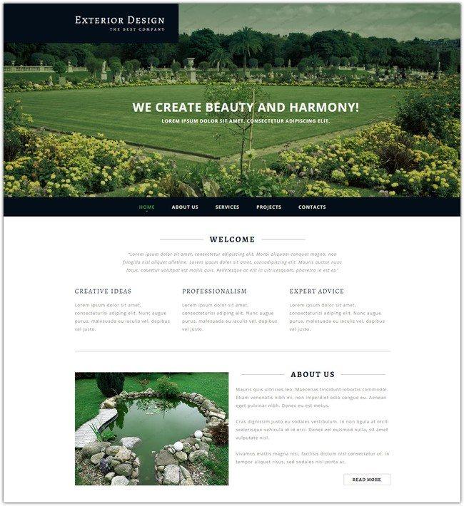 Best Exterior Design Responsive Website Template