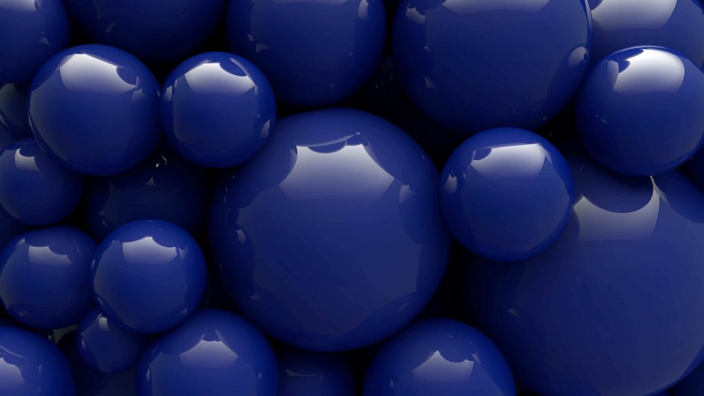 Blue Balls Shape Wallpaper