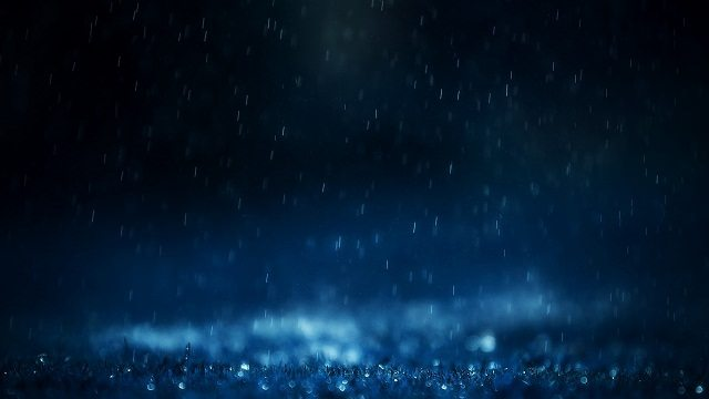Blue Rain HD wallpaper