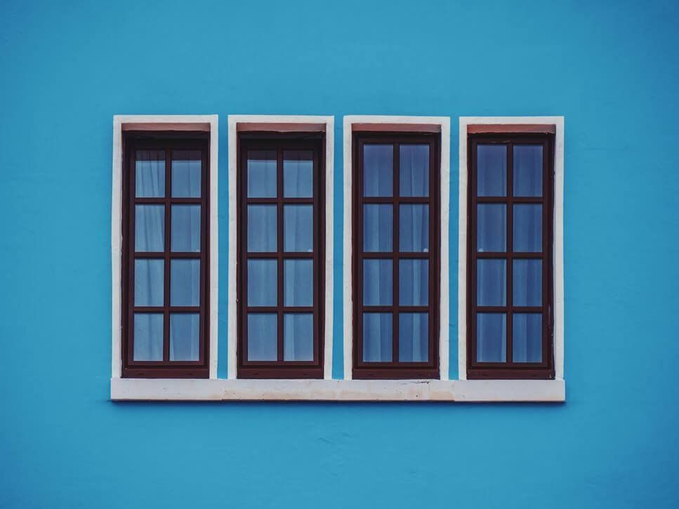 Blue Window Wallpaper