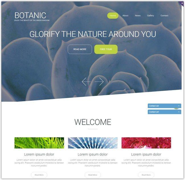 Botanic Garden Design Responsive Website Template