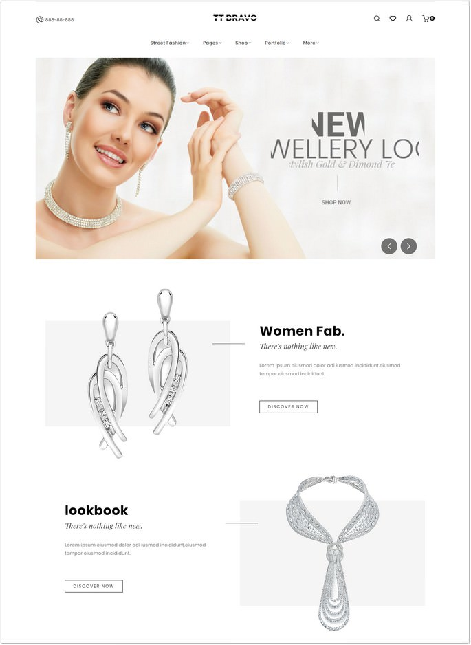 Bravo - Jewelry WooCommerce Theme