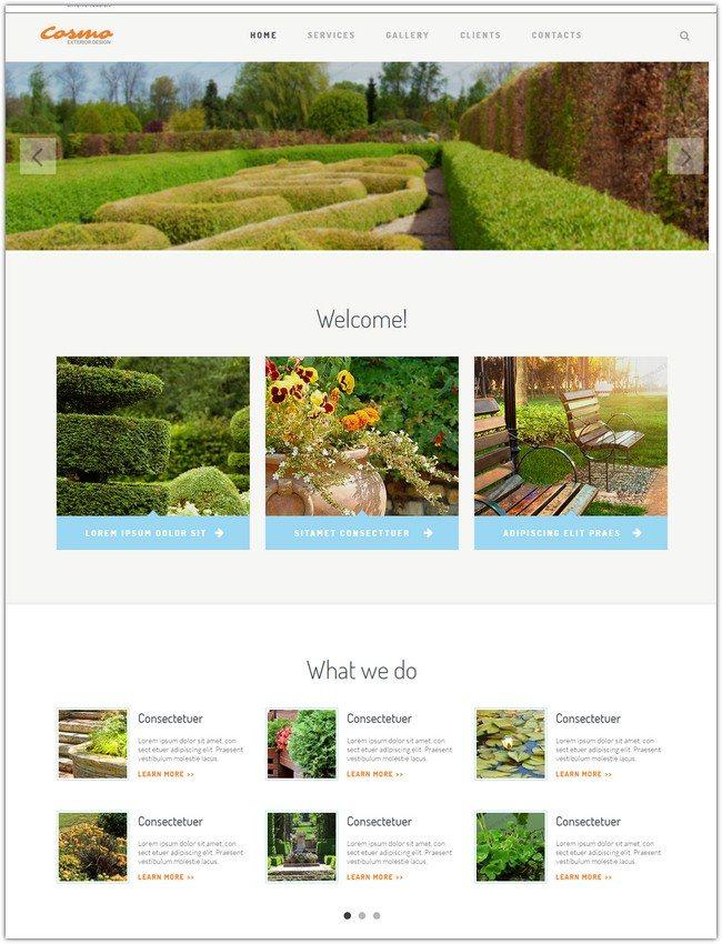 COSMO Exterior Design Responsive Website Template