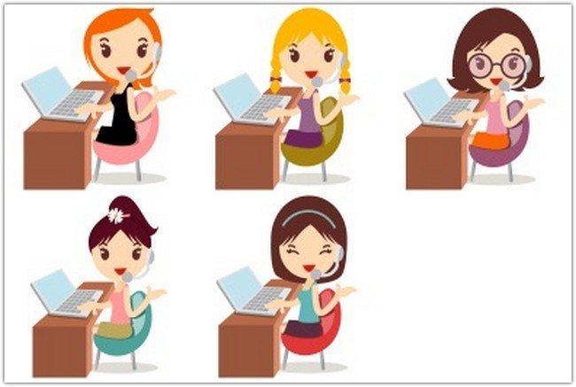 Callcenter Girls Icons by DaPino