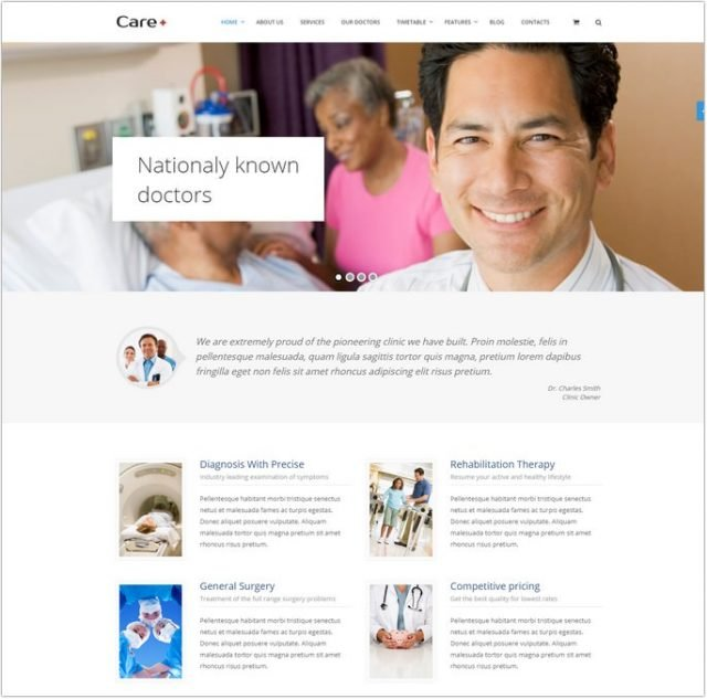 Care - Medical Blogging WordPress Theme