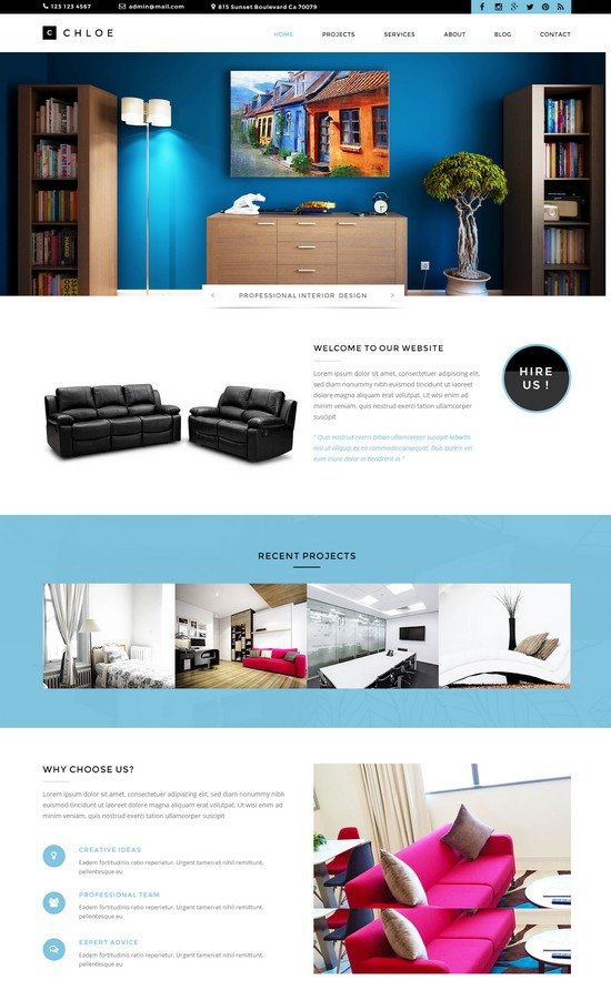 Chloe – Interior / Furniture / Exterior / Garden and Landscape Design Template