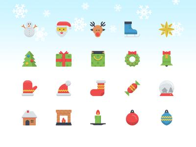 Christmas Flatilicious Icons