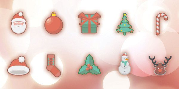 Christmas Holidays Free Icon Set