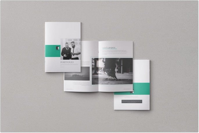 Clean Portfolio Brochure