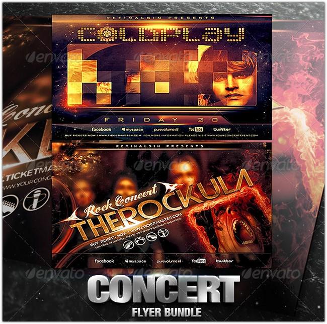 Concert Flyer Bundle
