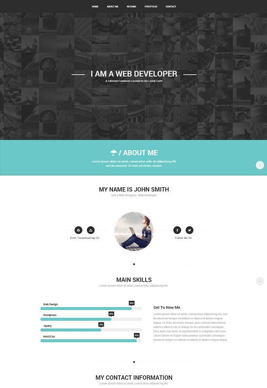 Confidence-Responsive-VCard-Template