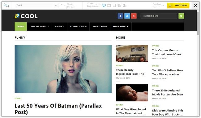 Cool WordPress Theme