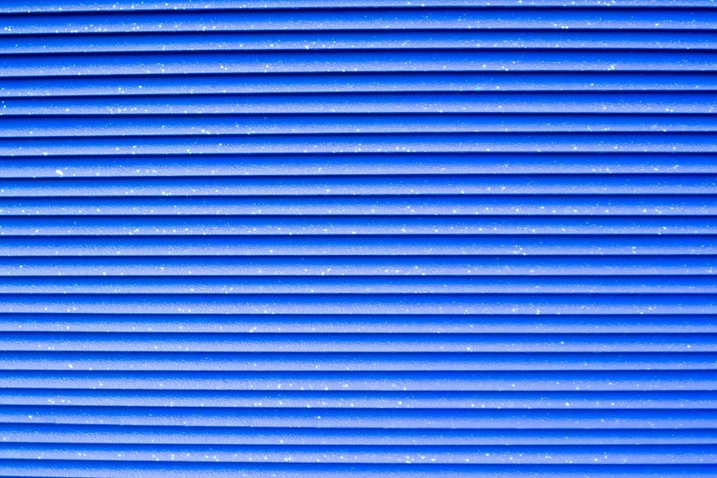 Corrugated Design Blue Background