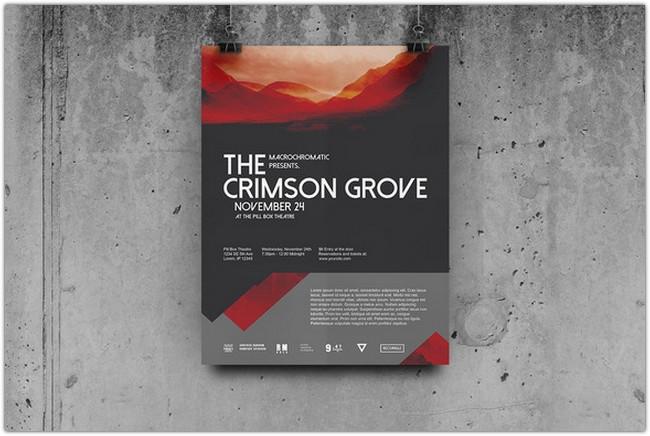 Crimson Concert - Flyer Poster