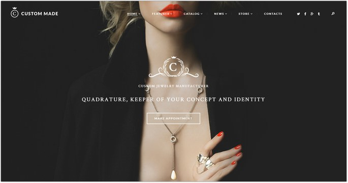 Custom Made Jewelry Manufacturer and Store WordPress Theme