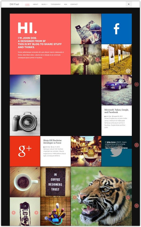 DW Fixel - Responsive WordPress Blog Theme