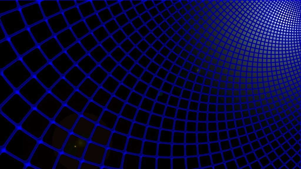 Dark Grid Blue Wallpaper HD