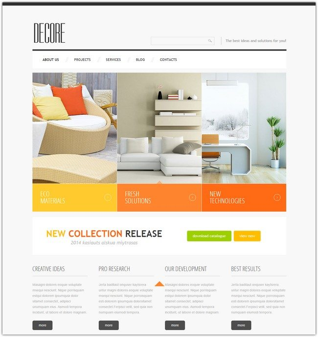 Decor Responsive Joomla Template