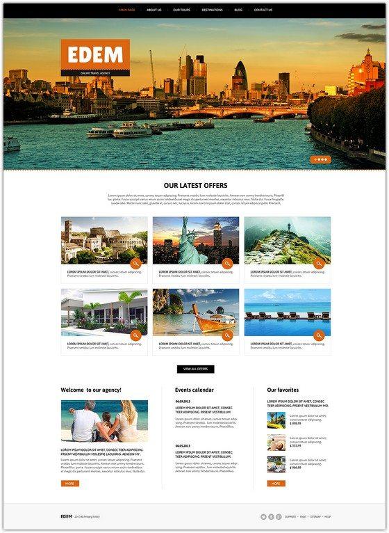 EDEM Travel Agency Responsive Joomla Template