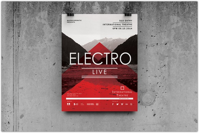 Electro Concert - Flyer Poster