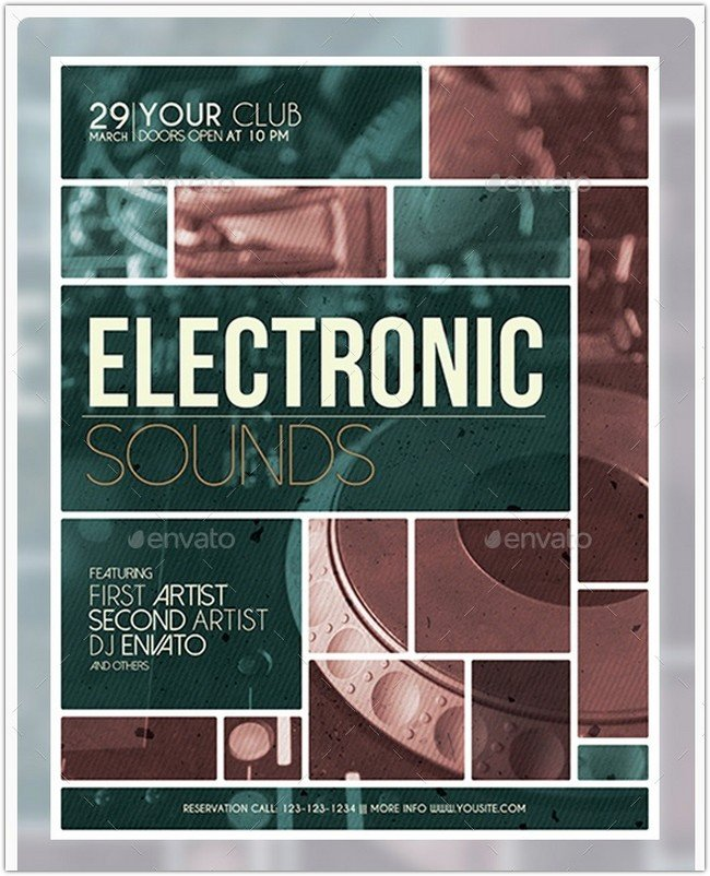 Electronic Sounds Party Flyer