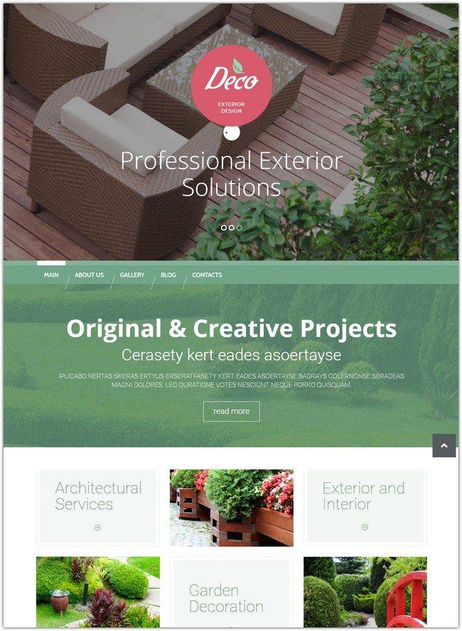 Exterior Design Mastery WordPress Theme