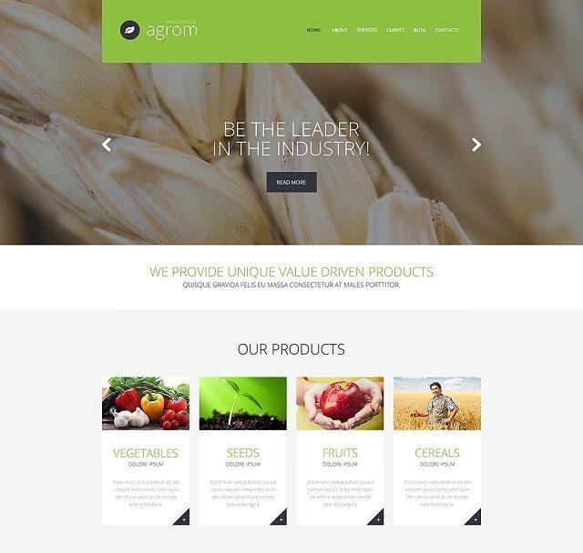 Farmer's Dream Service WordPress Theme