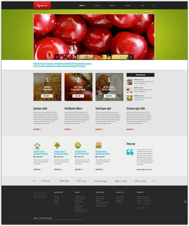 Farming Business WordPress Theme
