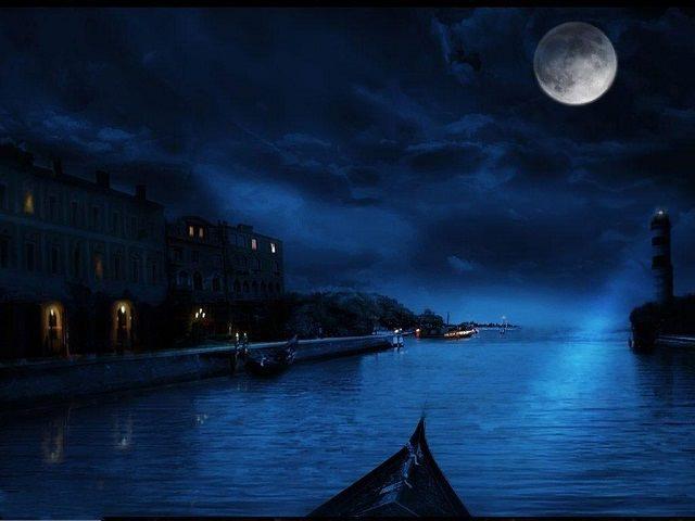Free Midnight Blue HD Wallpaper