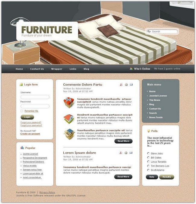 Furniture Joomla Template #2