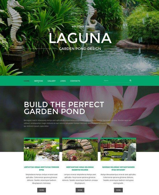Garden Pond Design Website Template