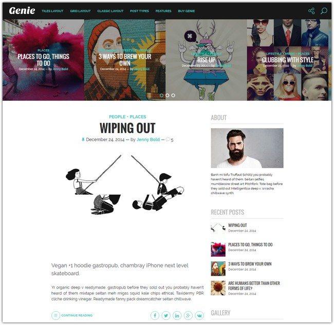 Genie – Personal Blog Theme