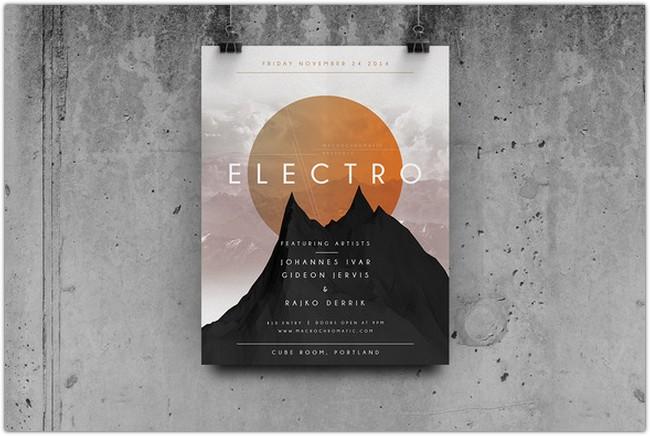 Geometric Concert - Flyer Poster