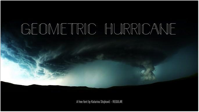 Geometric Hurricane Free Font