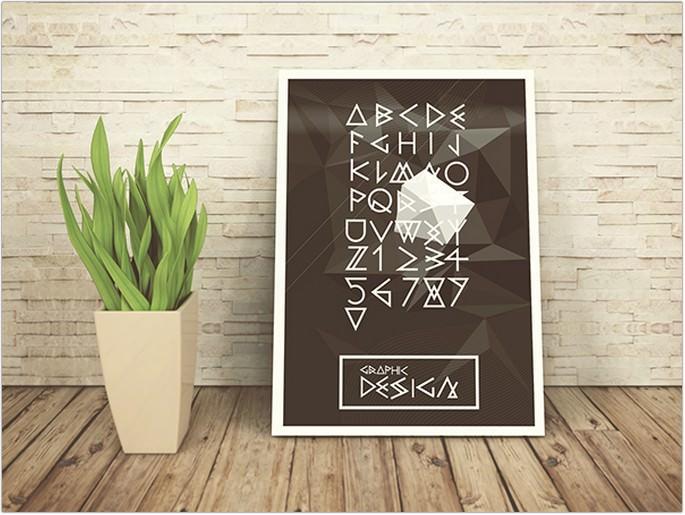 Geometric Vector Font