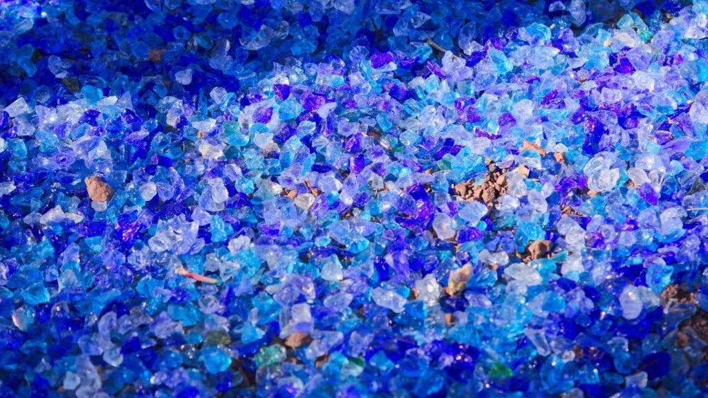 Glass Blue Background