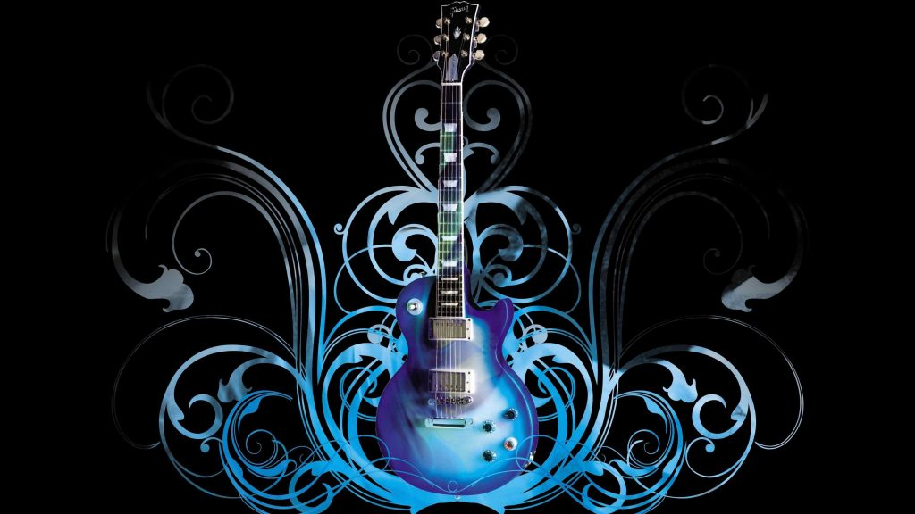 Guitar Blue Style wallpaper