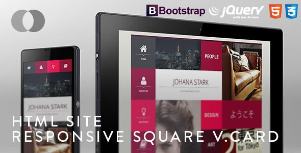 HTML-Site-Adaptive-Bootstrap-Square-vCard