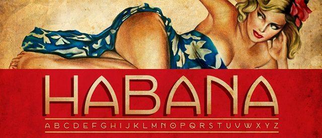 Habana font 2016